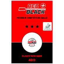 Red+Black Poly Wettkampfbälle *** 72er-Pack